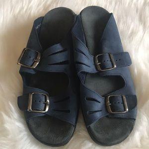 Clarks Springers blue sandals, size 8